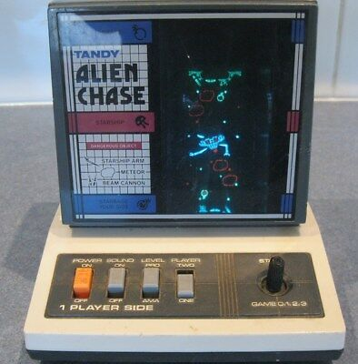 1984 Tandy Alien Chase Handheld Computer Game Two Players