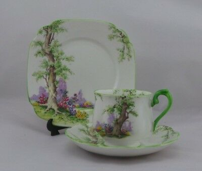 """Vintage Royal Albert """"Greenwood Tree"""" Trio, Cup Saucer and Plate."""