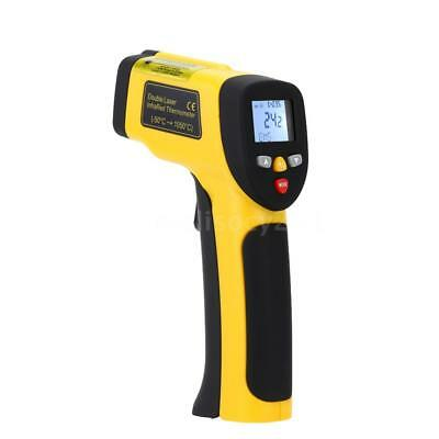 Double Laser Non-contact Digital Infrared Thermometer Pyrometer -50~1050℃ J2B6