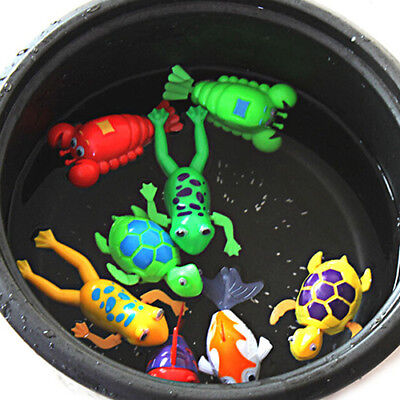 BU_ Baby Wash Bath Bathing Toy Wind-up Animals Toys Christmas Gift for Kids Peac