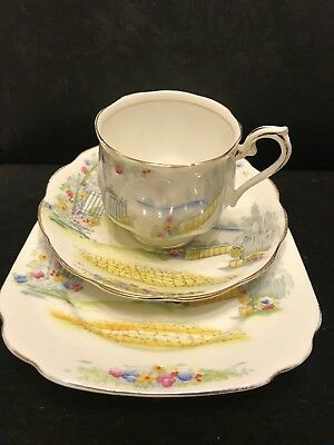 """Rare Antique Royal Albert Crown China """" Rosedale """"Trio, Cup Saucer and Plate"""
