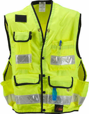 SECO Class 2 Lightweight Safety Utility Vest Small Fluorescent Yellow