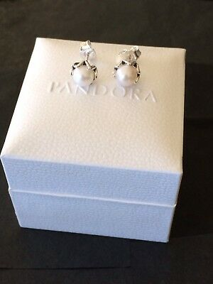 Genuine 925 Pandora Cultured Elegance Stud Earrings