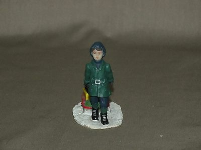 Coca-Cola Town Square Collection 1992 Child Pulling Sled