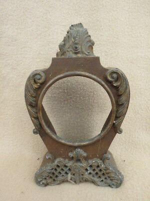 Antique Cast Iron Clock Case For Spares Or Repair