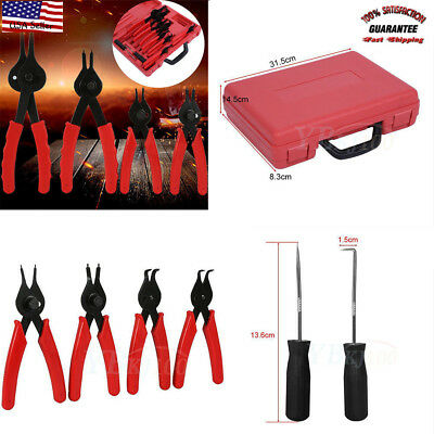 11 Piece Snap Ring Pliers Circlip Retaining Clip Tool Set Internal External Bt#