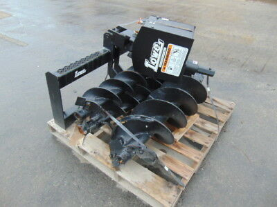 """New 2018 Lowe Universal Skid Steer """"auger"""" Attachment W/ 3 Bits  9"""" - 12"""" - 18"""""""