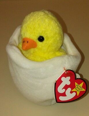 db6984073c5 TY Beanie Baby Rare EGGBERT Chick in Egg with Gasport Hang Tag 1998 1999