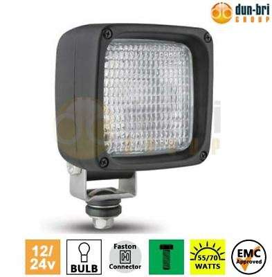 DBG 12V//55W Square Halogen Flood Work Lamp Light Truck Van Lorry Trailer