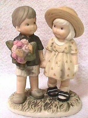 PRETTY AS A PICTURE LOVE NEVER ENDS Boy & Girl Holding Hands K. Anderson DBL New