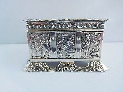 Outstanding Early Victorian Novelty Solid Silver Table Snuff Box - Landeck