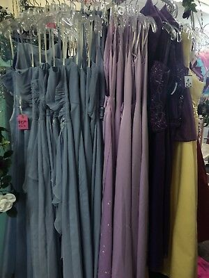 LOT of 10 (Sizes 0-28) PROM HOMECOMING SOCIAL FORMAL DRESSES NWT $1000 VALUE
