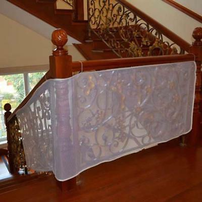 Anyumocz 10Ft Child Safety Rail Net for INDOOR & OUTDOOR Usage-Banister Stair –