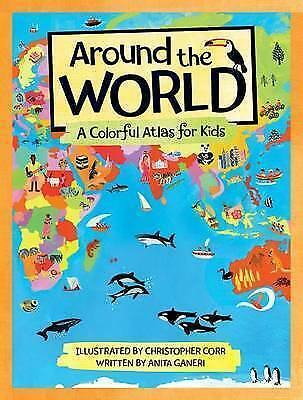 Around the World: A Colorful Atlas for Kids-ExLibrary