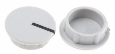 Sifam Potentiometer Knob Cap, Lined Cap Type, 15mm Knob Diameter, Grey, For Use