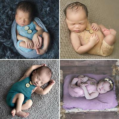 BU_ Newborn Baby Girls Boys Knit Crochet Romper Photo Photography Prop Outfits G