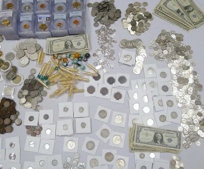 ESTATE COIN LOT, 12 Items!  ANTIQUE,SILVER,ANCIENT,PCGS,WWII,HOARD,PROOF,BARBER.