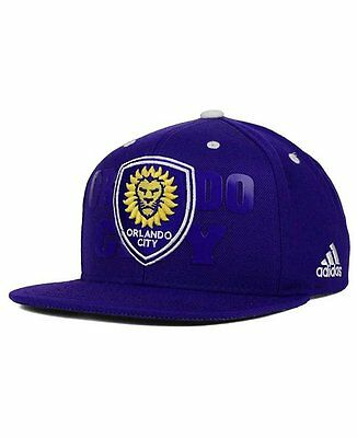 quality design 55518 e6659 NWT New Orlando City SC adidas MLS Academy Purple One Size Snapback Hat Cap