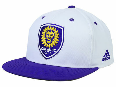 wholesale dealer d1c7f 2f9a1 NWT New Orlando City SC adidas MLS Launch White One Size Snapback Hat Cap