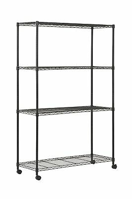 """Sandusky MWS481872 4-Tier Mobile Wire Shelving Unit with 2"""" Nylon Casters, 4 72"""""""