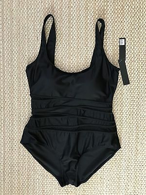 2d7ba40a84146 Jones New York Signature One Piece Black Tummy Smoother Bathing Suit Size 18