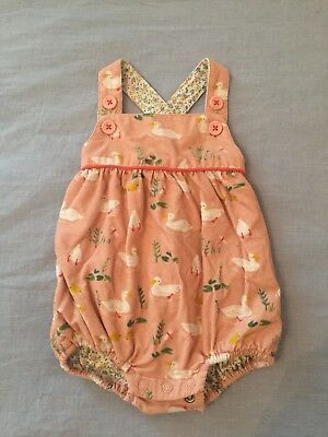 Baby Boden Pink Corduroy Duck Romper Size 0-3 Month Mos