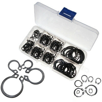 BU_ 160Pcs 6mm-25mm Stainless Steel C-Clip Retaining Circlip Assorted Set+Case G