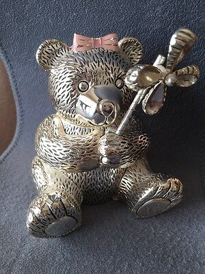 Reed & Barton Girl Bear Coin Bank