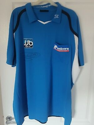 "Phil ""The Power Taylor Hand Signed Darts Shirt RARE PROTOTYPE"
