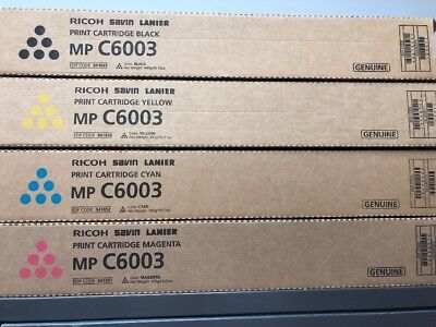 Ricoh MP C6003 toner  Cartridges, yellow, magenta, cyan and black - new in boxes