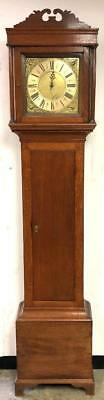 Fabulous Antique Solid Oak Longcase Single Hand 30hr Grandfather Clock C1780