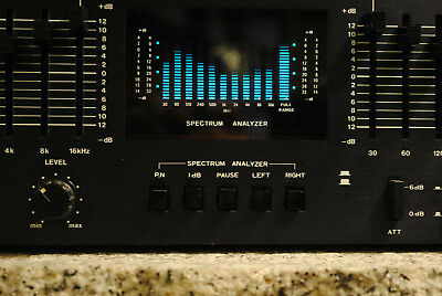 Monacor NORIS GE-909 * Real Time Spectrum Analyzer * Graphic Equalizer * Vintage