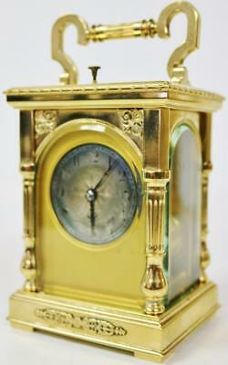 Antique French 8 Day Repeater Gong Striking Repeat Mantel Carriage Clock R&Co