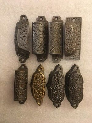 Lot #259 Misc Ornate Vintage Antique Bin Pulls