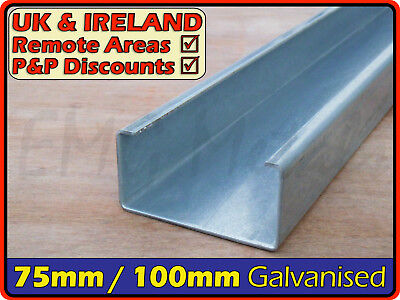 Galvanised Steel Lipped Channel ║ 75 x 50 mm ⫽ 100 x 50 mm ║ C section runner