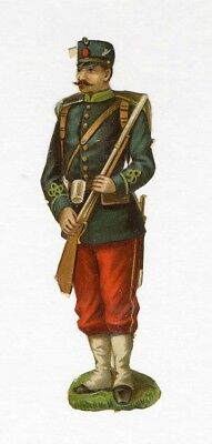 Military Uniform Soldier European VICTORIAN DIE CUT 19th Century Rifle