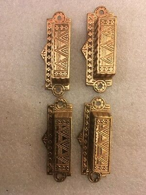Lot #260 Antique Cast Brass Ornate Bin Pulls