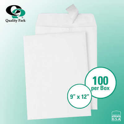 "Quality Park Redi-Strip Catalog Envelope 9"" x 12"" White, 100-count*FREE SHIPPING"