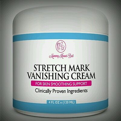 All Natural Organic Stretch Mark Vanishing Cream -Retinol Vit E Aloe Jojoba Shea