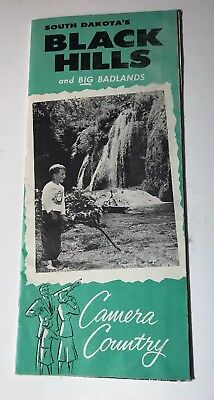 "VTG 1950's NICE Souvenir Brochure~""BLACK HILLS and BIG BADLANDS""~South Dakota~"
