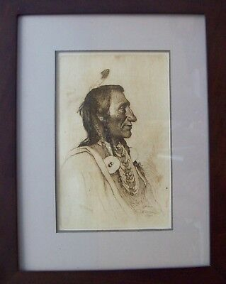 Rare Joseph Henry Sharp Etching