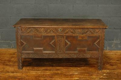 Antique Early 19th Century Oak Chest Coffer