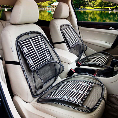 Summer Cool Car Seat Cover Lumbar Support Auto Vehicle Bamboo Cushion Pads