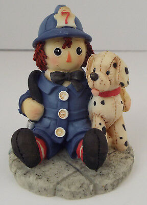 Enesco Raggedy Ann Figurine ~ I Found My Hero In You ~ Firefighter ~ Collectible