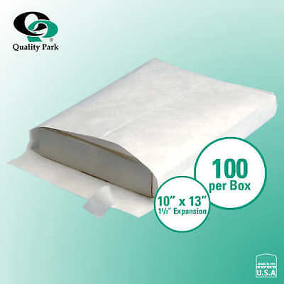 "Quality Park Survivor Tyvek Expanding Catalog Envelope 10"" x 13"" White, 100-ct"