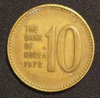 1972 Korea-south 10 Won  #1319