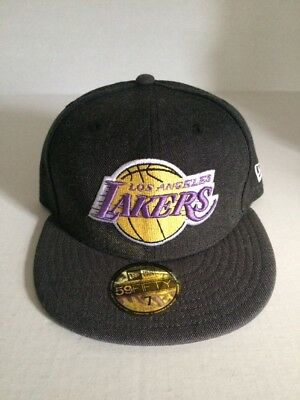 newest caec6 434fe NEW ERA CAP 5950 NBA LOS ANGELES LAKERS HARDWOOD FITTED HAT 59fifty Size 7