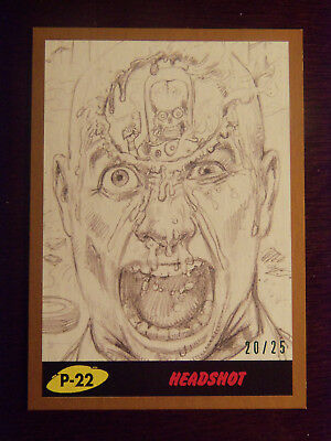 Topps MARS ATTACKS: The Revenge BRONZE Border card #P-22 Headshoit #20/25