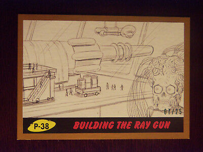 Topps MARS ATTACKS: The Revenge BRONZE Border card #P-38 Building The Ray Gun 07