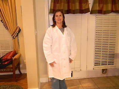 "Women's Plus sizes 22 poly/cotton length 37"" Medline lab coats for 12.00ea"